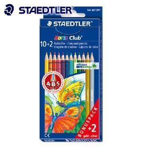 ステッドラー ノリスクラブ 色鉛筆 限定12色セット 金色・銀色入り 144NC12P1|nomado1230