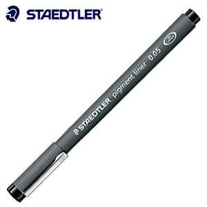 製図用品 ステッドラー ピグメントライナー ブラック 10本箱入り 308|nomado1230