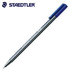 ファインライナー ステッドラー トリプラス ファインライナー 細書きペン ブルー 10本箱入り 334-3|nomado1230