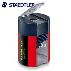 手動鉛筆削り ステッドラー トラディション 蓋付き シングルシャープナー 1穴 10個箱入り 鉛筆削り 511-005|nomado1230