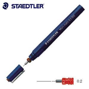 製図用品 ステッドラー マルス マチック 製図ペン 線幅0.2ミリ 700-02|nomado1230
