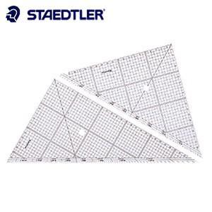 製図用品 方眼 ステッドラー レイアウト用 方眼三角定規 30センチ 966-30|nomado1230