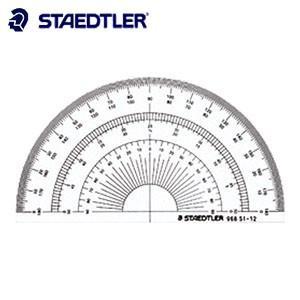 製図用品 ステッドラー 半円分度器 12センチ 968-51-12|nomado1230