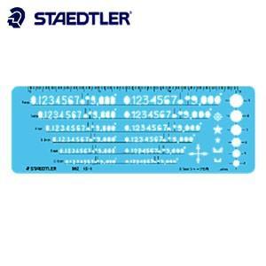 製図用品 ステッドラー 文字用テンプレート 数字定規 字高2.5〜6ミリ 0.5ミリシャープペンシル用 982-15-1|nomado1230