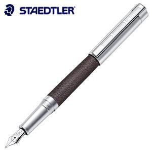 万年筆 名入れ ステッドラー コリウム シンプレックス 万年筆 ブラウン 9PC137|nomado1230