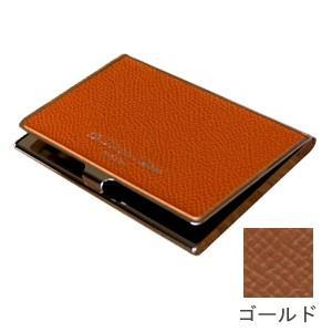 カードケース メンズ 革 名入れ スリップオン Noblessa NCシリーズ ブラスカードケース ゴールド DNK-2701GLD|nomado1230