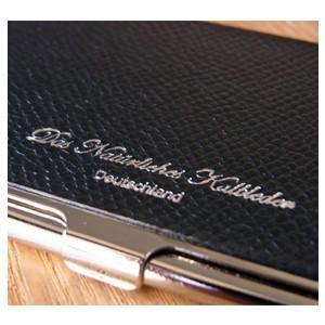 カードケース メンズ 革 名入れ スリップオン Noblessa NCシリーズ ブラスカードケース ゴールド DNK-2701GLD|nomado1230|04
