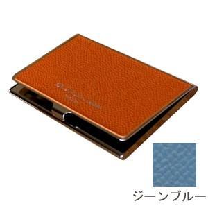 カードケース メンズ 革 名入れ スリップオン Noblessa NCシリーズ ブラスカードケース ジーンブルー DNK-2701JBL|nomado1230