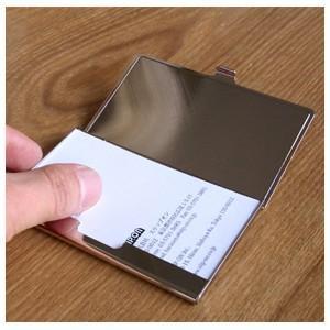 カードケース メンズ 革 名入れ スリップオン Noblessa NCシリーズ ブラスカードケース ネイビー DNK-2701NV|nomado1230|03