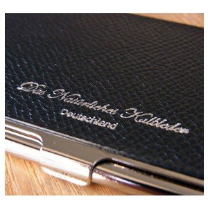 カードケース メンズ 革 名入れ スリップオン Noblessa NCシリーズ ブラスカードケース ネイビー DNK-2701NV|nomado1230|04
