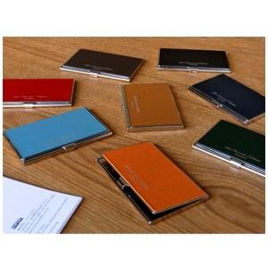カードケース メンズ 革 名入れ スリップオン Noblessa NCシリーズ ブラスカードケース ネイビー DNK-2701NV|nomado1230|05