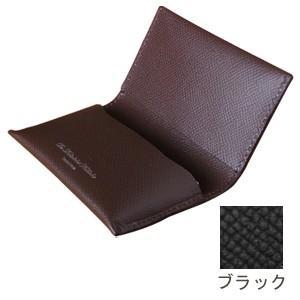 カードケース メンズ 名入れ スリップオン Noblessa NCシリーズ ネームカードケース ブラック DNK-4803BK|nomado1230
