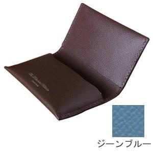 カードケース メンズ 名入れ スリップオン Noblessa NCシリーズ ネームカードケース ジーンブルー DNK-4803JBL|nomado1230