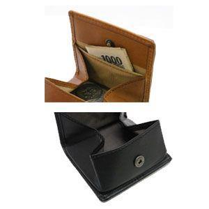 コインケース メンズ 革 名入れ スリップオン Liscio LCシリーズ キャメル ユニャック BOX コインケース ILC-3801CML nomado1230 05