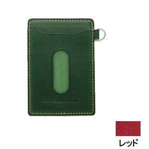 パスケース レディース スリップオン INFORMATIONシリーズ New Leather Productsコレクション BT パスケース レッド INL-3003RD|nomado1230