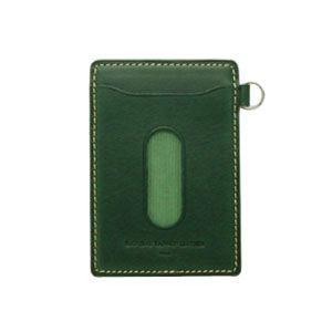 パスケース メンズ スリップオン INFORMATIONシリーズ New Leather Productsコレクション BT パスケース グリーン INL-3003GRN|nomado1230