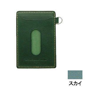 パスケース レディース スリップオン INFORMATIONシリーズ New Leather Productsコレクション BT パスケース スカイブルー INL-3003SKY|nomado1230