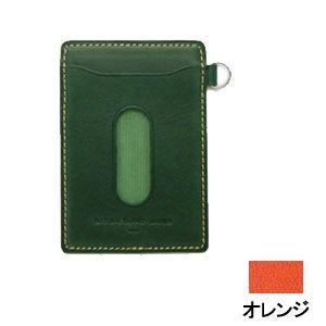 パスケース レディース スリップオン INFORMATIONシリーズ New Leather Productsコレクション BT パスケース オレンジ INL-3003OR|nomado1230