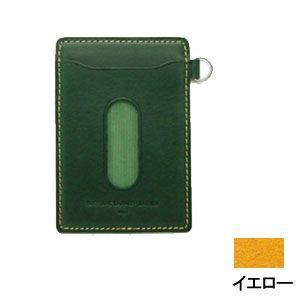 パスケース レディース スリップオン INFORMATIONシリーズ New Leather Productsコレクション BT パスケース イエロー INL-3003YL|nomado1230