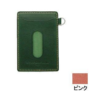 パスケース レディース スリップオン INFORMATIONシリーズ New Leather Productsコレクション BT パスケース ピンク INL-3003PK|nomado1230