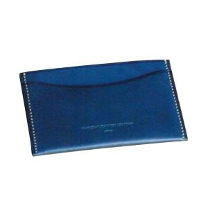カードケース メンズ 名入れ スリップオン BT シングル カードケース ブルー INL-3004BL nomado1230