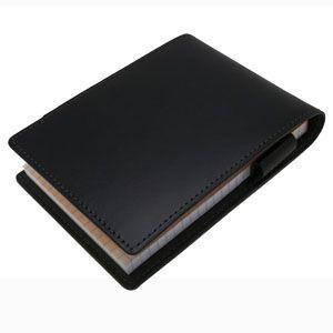 メモカバー 革 スリップオン Rio&DNLシリーズ ブラック RHODIA メモカバー No.12サイズ対応 IOL-3806BK|nomado1230