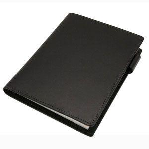 メモカバー 革 スリップオン Rio&DNLシリーズ ブラック RHODIA メモカバー No.13サイズ対応 IOL-5503BK|nomado1230