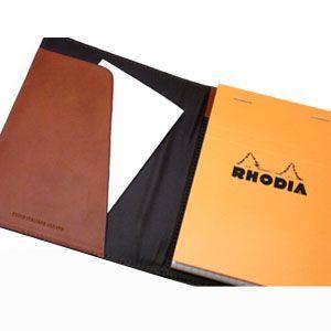 メモカバー 革 スリップオン Rio&DNLシリーズ ダークブラウン RHODIA メモカバー No.13サイズ対応 IOL-5503DBR|nomado1230|06
