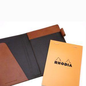 メモカバー 革 スリップオン Rio&DNLシリーズ レッド RHODIA メモカバー No.13サイズ対応 IOL-5503RD|nomado1230|03