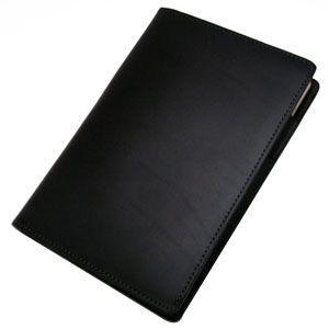 メモカバー 革 スリップオン Rio&DNLシリーズ ブラック RHODIA メモカバー No.14サイズ対応 IOL-6802BK|nomado1230