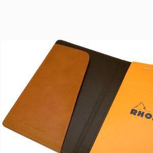 メモカバー 革 スリップオン Rio&DNLシリーズ ブラック RHODIA メモカバー No.14サイズ対応 IOL-6802BK|nomado1230|04