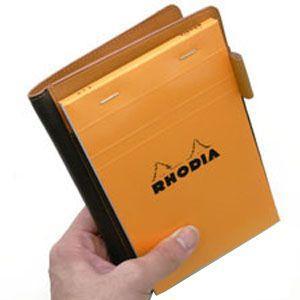 メモカバー 革 スリップオン Rio&DNLシリーズ ワイン RHODIA メモカバー No.14サイズ対応 IOL-6802WN nomado1230 05