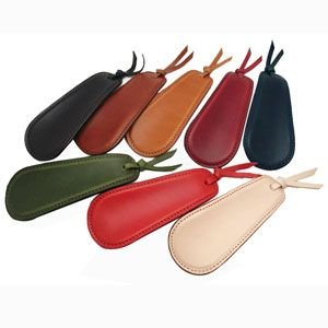 靴べら おしゃれ 革 名入れ スリップオン Rio&DNLシリーズ ダークブラウン 靴ベラ シューホーン IOL-2501DBR|nomado1230