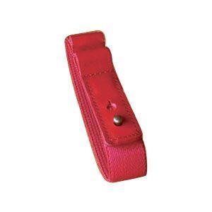 ブックバンド おしゃれ 革 スリップオン MinervaBoxシリーズ レザーバンドS 3個セット レッド IVL-1501RD|nomado1230