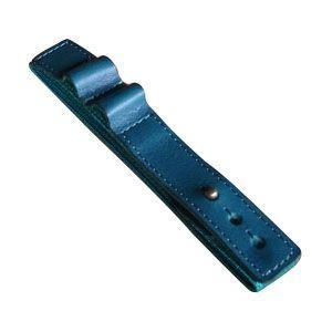 ブックバンド おしゃれ 革 スリップオン MinervaBoxシリーズ レザーバンドL 3個セット ブルー IVL-1701BL|nomado1230