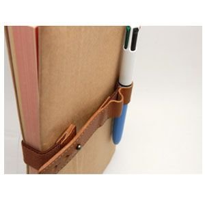 ブックバンド おしゃれ 革 スリップオン MinervaBoxシリーズ レザーバンドL 3個セット キャメル IVL-1701CML nomado1230 05