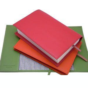 ブックカバー 革 スリップオン Noir NSLシリーズ オレンジ ノワールコレクション 文庫判サイズ ブックカバー ブックジャケット NSL-2401OR|nomado1230|06