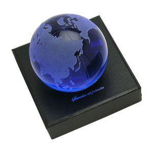 ペーパーウェイト スリップオン ステーショナリーコレクション オプティカルグローブ ペーパーウェイト ブルー OG-80BL|nomado1230