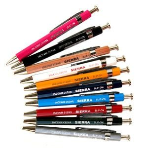 高級 ボールペン スリップオン ステーショナリー SIERRAコレクション ライトブルー 木軸ボールペン Sサイズ 10本ロット WBP-3501LBL|nomado1230
