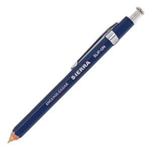 高級 ボールペン スリップオン ステーショナリー SIERRAコレクション ネイビー 木軸シャープペン Sサイズ 10本ロット WSP-3001NV|nomado1230
