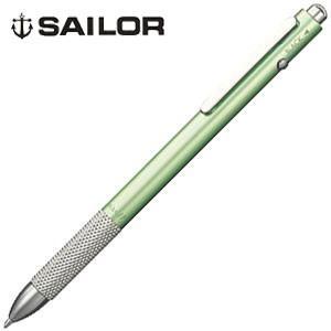 高級 マルチペン 名入れ セーラー万年筆 マルシャンJP 2色ボールペン+シャープペンシル マルチペン グリーン 16-0119-260|nomado1230