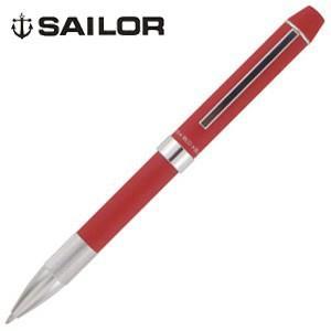 高級 マルチペン 名入れ セーラー万年筆 メタリノ フィット 2色ボールペン+シャープペンシル 複合筆記具 レッド 16-0219-230|nomado1230