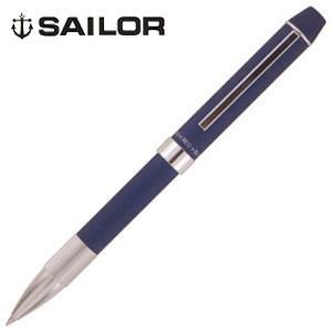 高級 マルチペン 名入れ セーラー万年筆 メタリノ フィット 2色ボールペン+シャープペンシル 複合筆記具 ブルー 16-0219-240|nomado1230
