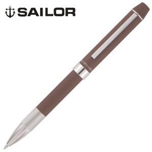 高級 マルチペン 名入れ セーラー万年筆 メタリノ フィット 2色ボールペン+シャープペンシル 複合筆記具 ブラウン 16-0219-280|nomado1230