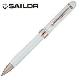高級 マルチペン 名入れ セーラー万年筆 ファシーネ3色複合筆記具 2色ボールペン+シャープペンシル ホワイト 16-0325-210|nomado1230