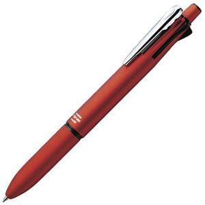 高級 マルチペン 名入れ ゼブラ クリップオンマルチ2000 多機能ペン 赤 B4SA4-R|nomado1230
