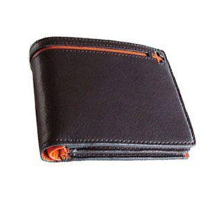メンズ 2つ折 財布 革 名入れ C カンパニー クローチェシリーズ ブラック・オレンジ 二つ折り財布 cro-807BK|nomado1230