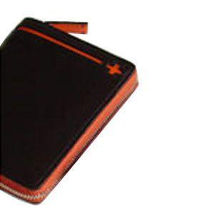 C カンパニー クローチェシリーズ ブラック・オレンジ ラウンド財布 cro-808BK|nomado1230