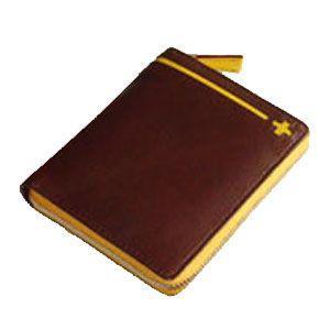 C カンパニー クローチェシリーズ ダークブラウン・イエロー ラウンド財布 cro-808DB|nomado1230