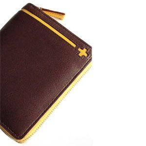C カンパニー クローチェシリーズ ダークブラウン・イエロー ラウンド財布 cro-808DB nomado1230 02